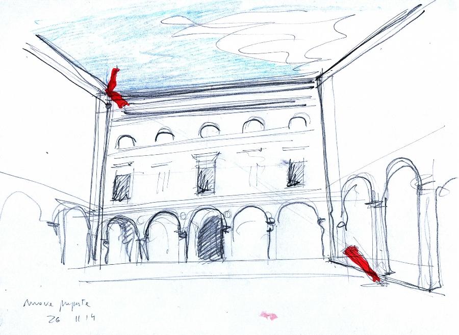 Alberto timossi, bozza per Palazzo Gravina